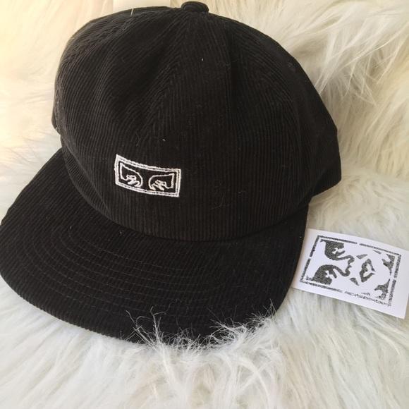 a753431a86952 Obey Decades Black Corduroy Snapback Hat